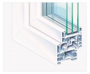 Asalto PVC profil KOMMERLING MD 76 MM